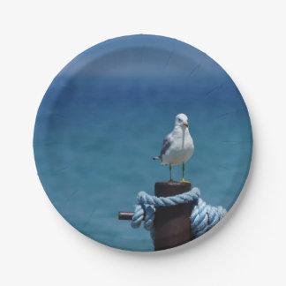 Seagulls Paradise At Mackinac Paper Plate
