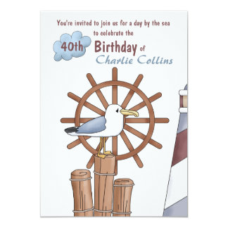 Seagull's Perch Nautical Invitation