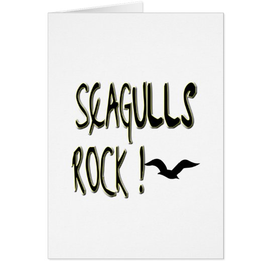Seagulls Rock! Greeting Card