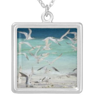 Seagulls Silver Plated Necklace