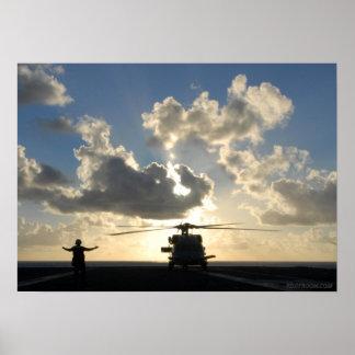 Seahawk Sunset Poster