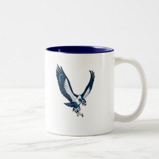 Seahawk, UNCW SWIMMING Two-Tone Coffee Mug