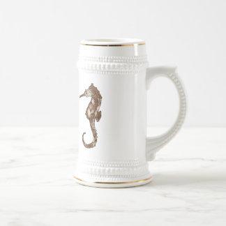 Seahorse 3 beer stein