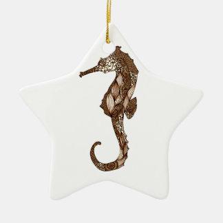 Seahorse 3 ceramic ornament