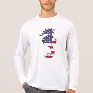 """Seahorse """"American Flag"""" T-Shirt"""