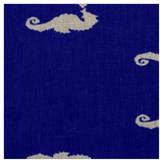 Seahorse and Shell Fabric