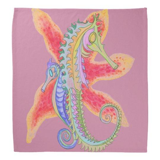 seahorse and starfish bandanna