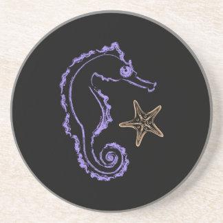 Seahorse and Starfish Coaster