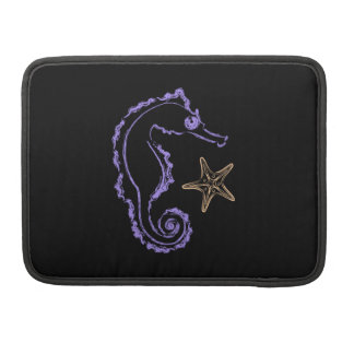Seahorse and Starfish Sleeve For MacBook Pro