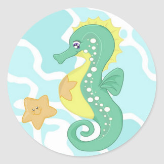 Seahorse and Starfish Stickers