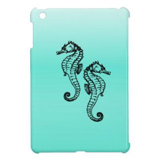 Seahorse Aqua iPad Mini Case