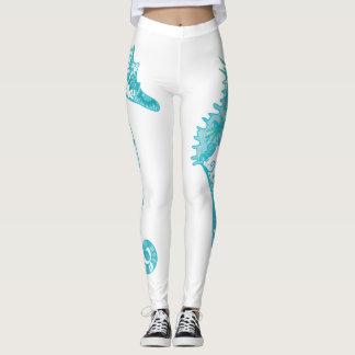 Seahorse art Custom Leggings