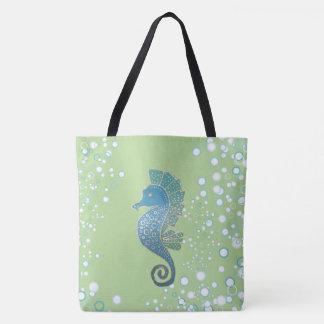 Seahorse Artwork Tote Bag