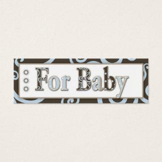 Seahorse Baby Boy Gift Tag