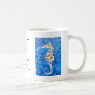 Seahorse Blue Mug