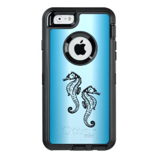 Seahorse Blue OtterBox Defender iPhone Case