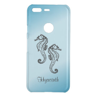 Seahorse Blue Personalized Custom Uncommon Google Pixel Case