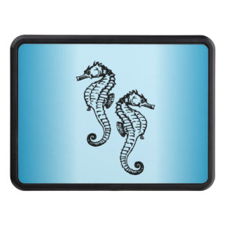 Seahorse Blue Trailer Hitch Cover