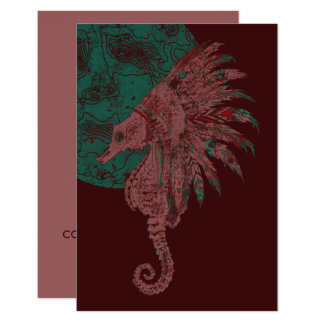 seahorse by the moon card
