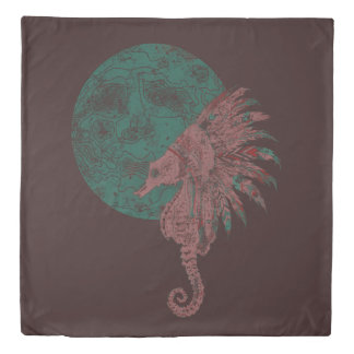 seahorse by the moon duvet cover