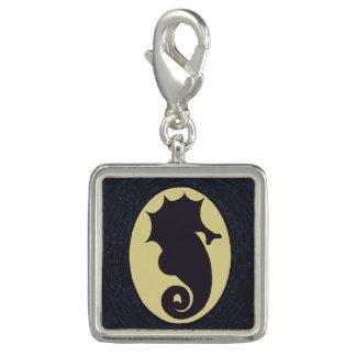 Seahorse Cameo Silhouette Charm