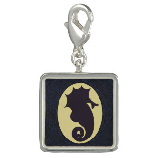 Seahorse Cameo Silhouette Photo Charm