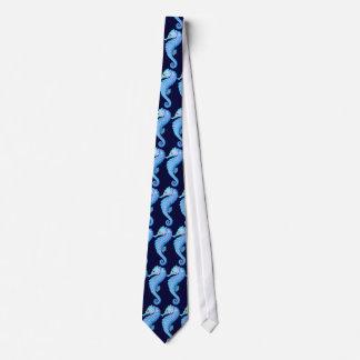 Seahorse cartoon tie