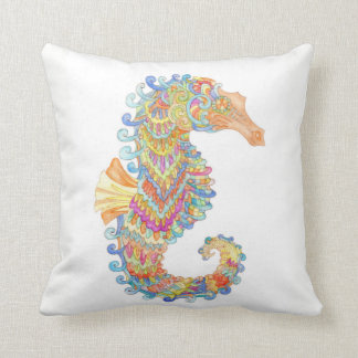 Seahorse celebrates carnival cushion