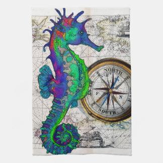 Seahorse Compass Kitchen Towel