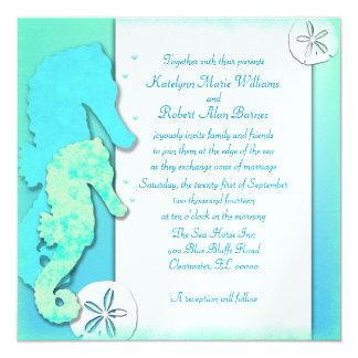 Seahorse Couple Wedding Set, Couple Inviting Card