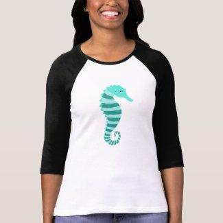 Seahorse Cute Nautical Graphic T-shirt Seahorse