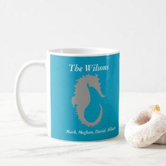 Seahorse Design Personalized Coffee Mug