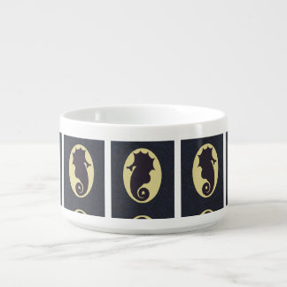 Seahorse Fantasy Silhouette Bowl