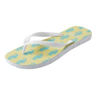 Seahorse Flip Flops Personalized