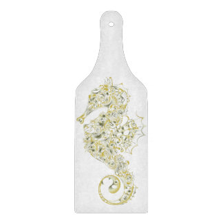 Seahorse Glass Cutting Board - Green 1