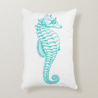 Seahorse Graphic Accent Pillow
