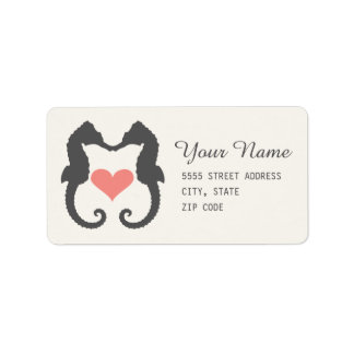 Seahorse Heart Label