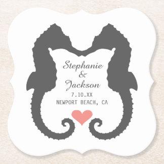 Seahorse Heart Paper Coaster
