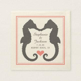 Seahorse Heart Paper Napkins