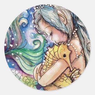 SeaHorse Hugs Mermaid Sticker