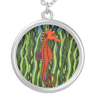 Seahorse In Seagrass Necklace