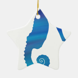 Seahorse in the Ocean Ceramic Ornament