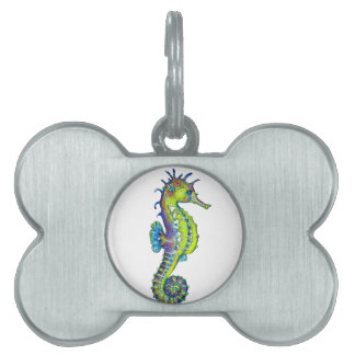 Seahorse Inky Lime Pet ID Tag