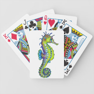 Seahorse Inky Lime Poker Deck