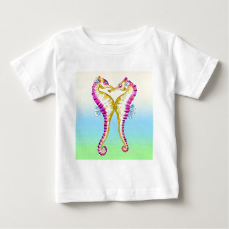 Seahorse Kiss Bubble Baby T-Shirt