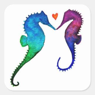 Seahorse Love Stickers