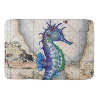 Seahorse Map Gibraltar Bath Mat