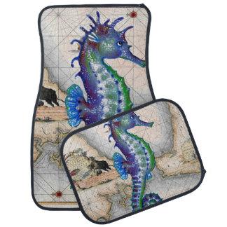 Seahorse Map Gibraltar Car Mat