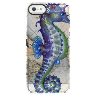 Seahorse Map Gibraltar Clear iPhone SE/5/5s Case