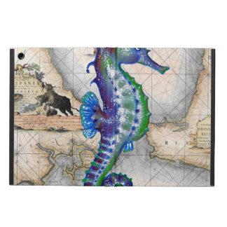 Seahorse Map Gibraltar Cover For iPad Air